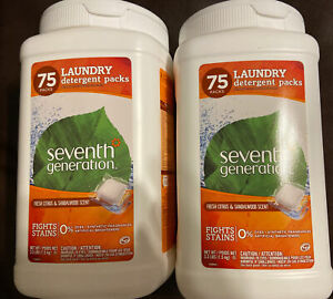 3  Seventh Generation Laundry Detergent Pods Fresh Citrus & Sandalwood Scent, 75