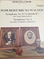 Schubert Bruno Walter Symphony No. 8 New York Phil Vinyl LP 61 Columbia