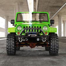Stubby Front Bumper Winch Plate OE Fog Light Housing 07-17 Jeep Wrangler JK ha