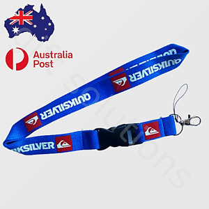 Lanyard QUIKSILVER blue keychain neck strap for ID security card USB etc