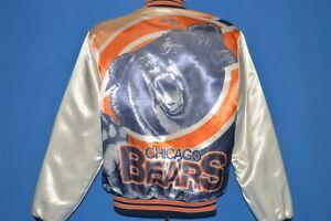 vintage 80s CHICAGO BEARS CHALK LINE FANIMATION SATIN SNAP UP JACKET MEDIUM M