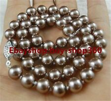 """Charming Natural 8mm Akoya Cultured Shell Pearl Necklace 18"""" AAA (10 Color)"""