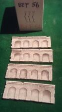 Z scale/ Z scale stone arched  wall x 4-  Painted,