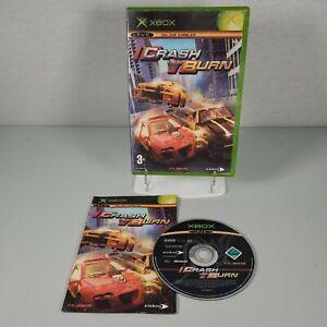 Crash 'N' Burn Xbox Original Racing Video Game Manual PAL