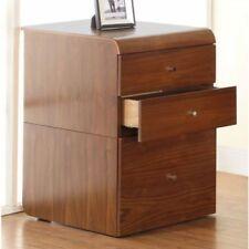 Jual Furnishings PC605 3 Drawer Desk High Pedestal Unit - Walnut