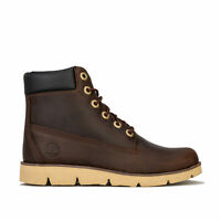 Junior Boys Timberland Radford 6 Inch Boots In Brown- Lace Fastening- Side Zip