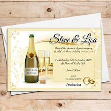 10 Personalised Wedding Anniversary Invitations N7 ANY YEAR