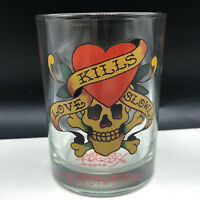 ED HARDY GLASS Love Kills slowly bar glassware barware cup mug skull cocktail US