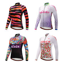 Ladies Cycling Jersey Long Sleeve Bike Bicycle Cycle Jersey Shirt Top Reflective