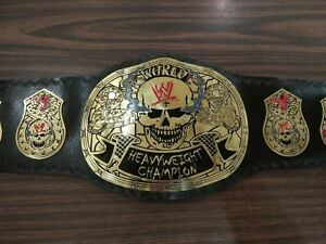 WWE Stone cold Smoking Skull World Heavyweight Wrestling Champion Replica Belt
