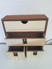 Wooden Cabinet Large & Small Drawers Jewellery Decorate 9 x 10 inches boxes new