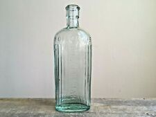 More details for vintage embossed poisonous - not to be taken aqua glass bottle barn salvage