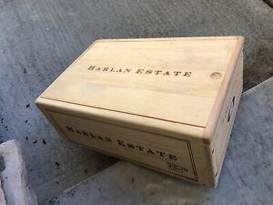 Harlan Estate Original 2-bottle Wood Wine Box OWC