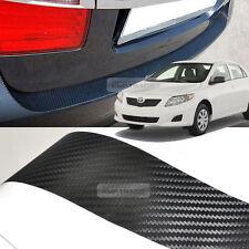 Carbon Black Rear Bumper Protector Decal Sticker for TOYOTA 2007 - 2009 COROLLA