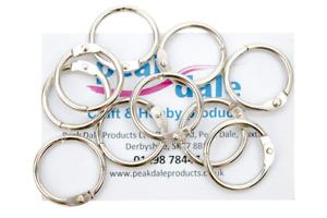Metal Hinged Ring Book Binder Craft Photo Album Split Keyring 19mm or 32mm