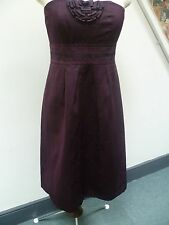 MARKS & SPENCER AUTOGRAPH STRAPLESS DRESS SIZE 16 - GRAPE COLOUR -NEW   £59