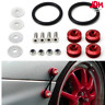 JDM PW RED Quick Release Kit Bolt On Bumper Fender Fastener Screw Loop Ring