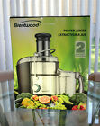 BRENTWOOD JC-500 800W Stainless Steel Electric Juice Extractor New! photo