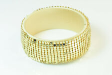 Gold Sequins Around Light Bracelet(St130) Great Party Accessory Ladies Wide Matt