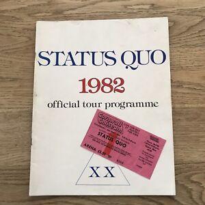 Status Quo Tour Programme - 1982 - X X - c/w used Ticket