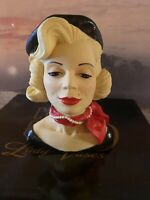 "Cameo Girls Head Vase Clarissa 1955 ""Beatnik Beauty"""