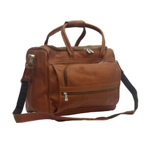 """PIEL SMALL LEATHER COMPUTER CARRY-ON BAG - NEW - fits MacBook Air/Pro 13"""" laptop"""