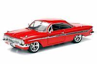 1/24 Jada Fast & Furious 8 Movie Dom's 1961 Chevy Impala Diecast Model 98426 Red
