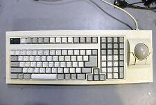 Vintage Qtronix Clicky Mechanical BLUE CHERRY Keyboard Trackball S-35 MP PS/2