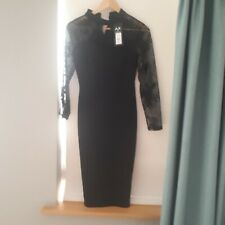 Ax Paris black dress, size 10, lace sleeves, high neck