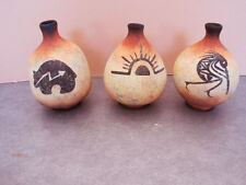 Handpainted, Handcrafted Southwestern Clay Seed Pots Maria K Musarra Cave Art -3