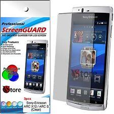 3 Pz Pellicole Per Sony Ericsson Xperia ARC X12 Proteggi Schermo LCD Pellicola