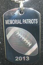 customized football team dog tag necklace free personalized photo on the back