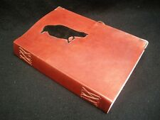 CROW Pagan Wicca Handmade A5 Leather Journal Book of Shadows Grimoire Diary