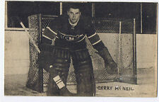1948-52 Exhibits Hockey Card Gerry McNeil Montreal Canadiens (5 1/4 x 3 1/4)
