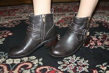 VINCE CAMUTO WARBY FUDGE BROWNIE VINTAGE TUMBLED BOOT SIZE 7.5M