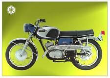 yamaha poster ym2 ym2c big bear scrambler 305 suitable 2 frame blue 1967  1968