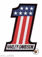 HARLEY DAVIDSON USA NUMBER 1 EVEL KNIEVEL VEST PATCH  **MED** MADE IN USA **