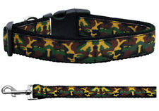 Mirage Green Camo Nylon Dog Collars and Leash Combo