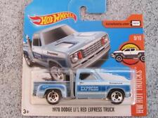 Hot Wheels 2017 # 131/365 1978 DODGE Li'l Rojo Express Camión Azul HW Caliente