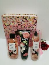 Bath & Body Works ROSE Body Lotion Shower Gel Fragrance Mist New Gift Box Set