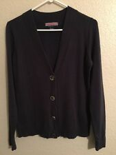 VINEYARD VINES womens Cardigan Whale Logo buttons navy blue Size s small