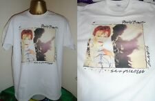 DAVID BOWIE- SCARY MONSTERS- CLASSIC 1980 ALBUM T SHIRT- WHITE - LARGE