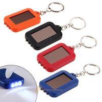 Portable Solar Power 3 LED Torch Light Flashlight Lamp Key Chain Keyring Outdoor