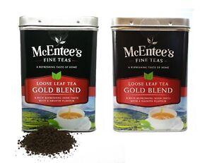 McEntee's IRISH Loose Leaf GOLD BLEND Tea 2 X 500G TIN - BLENDED IN IRELAND