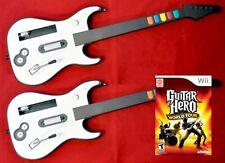 NEW Wii/Wii-U Hero World Tour Game + 2 Wireless GUITAR Set bundle kit nintendo