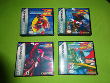 Empty Cases!  -  Mega Man Zero 1 2 3 4 Collection GBA Nintendo Gameboy Advance