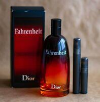 Dior Fahrenheit 5 ml Probe Spray EDT Eau De Toilette Autentic