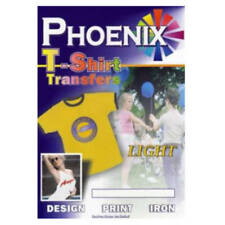 Phoenix Iron On Inkjet A4 T Shirt Transfer Paper Light Fabric 5 Sheets