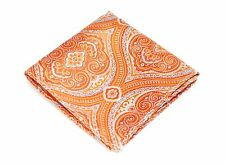 Lord R Colton Masterworks Pocket Square - Orange Tapestry Silk - $75 Retail New