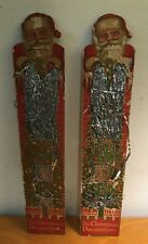 Antique Christmas Tinsel Santa Claus Chimney 1921 Patent Two Packages Buy It Now
